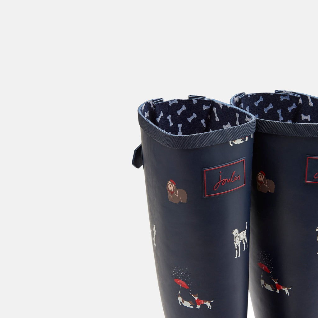Joules Welly UK 3 / EU 36 / US 5 / Navy Dogs Welly Print Navy Dogs