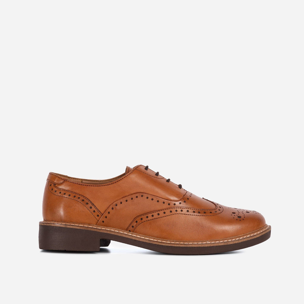Larkin Footwear LADIES JUNIPER TAN OXFORD BROGUE