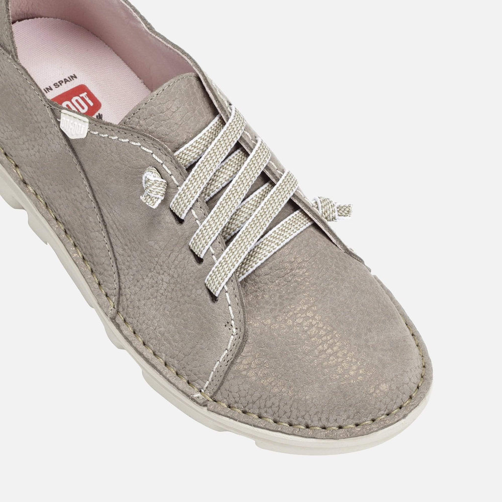 On Foot Footwear Basket Metal 30001 Taupe Leather