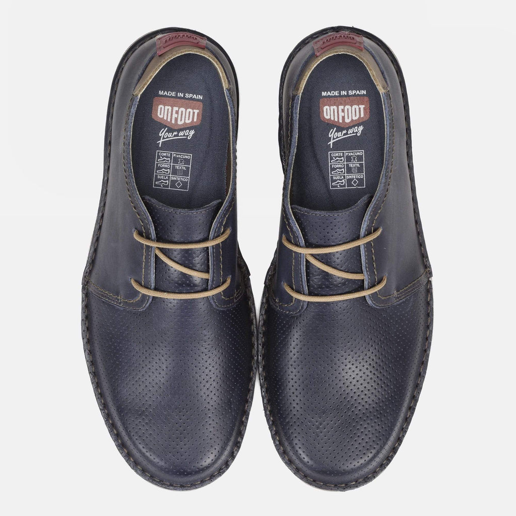 On Foot Footwear Derbi 7000 Blucher Nappa Marino Leather