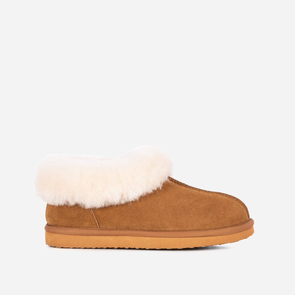 Redfoot Footwear ANN LADIES TAN SHEEPSKIN SLIPPER BOOTIE