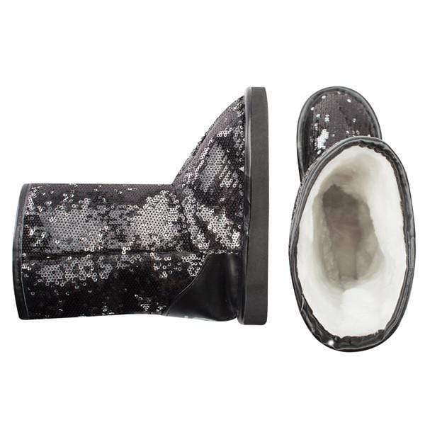 Redfoot Footwear GIRLS BLACK 1D SEQUIN BOOT