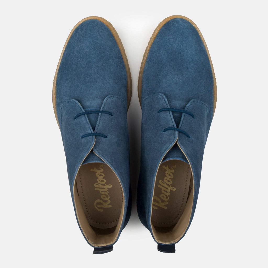 Redfoot Footwear ISLA DUSKY BLUE SUEDE CHUKKA BOOT
