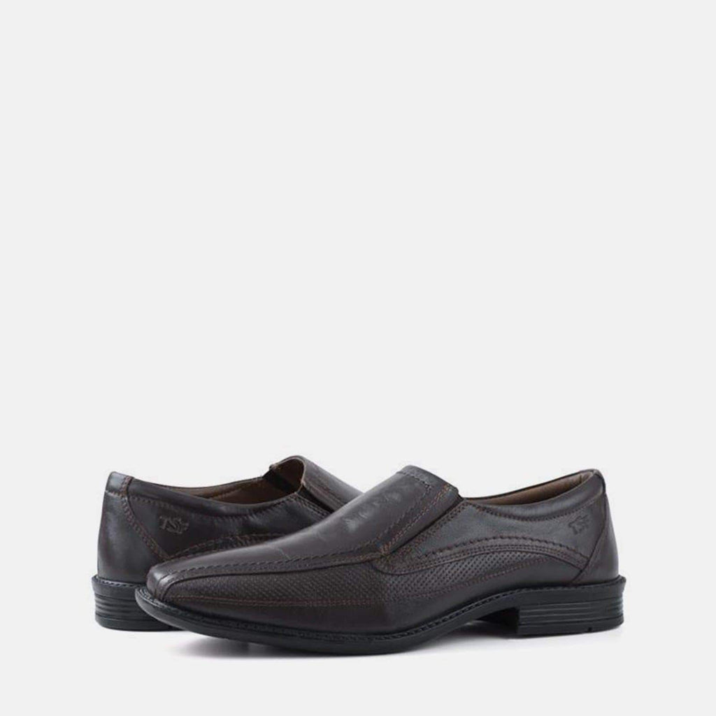 Redfoot Footwear MAURICE BROWN LEATHER SLIP ON SHOE