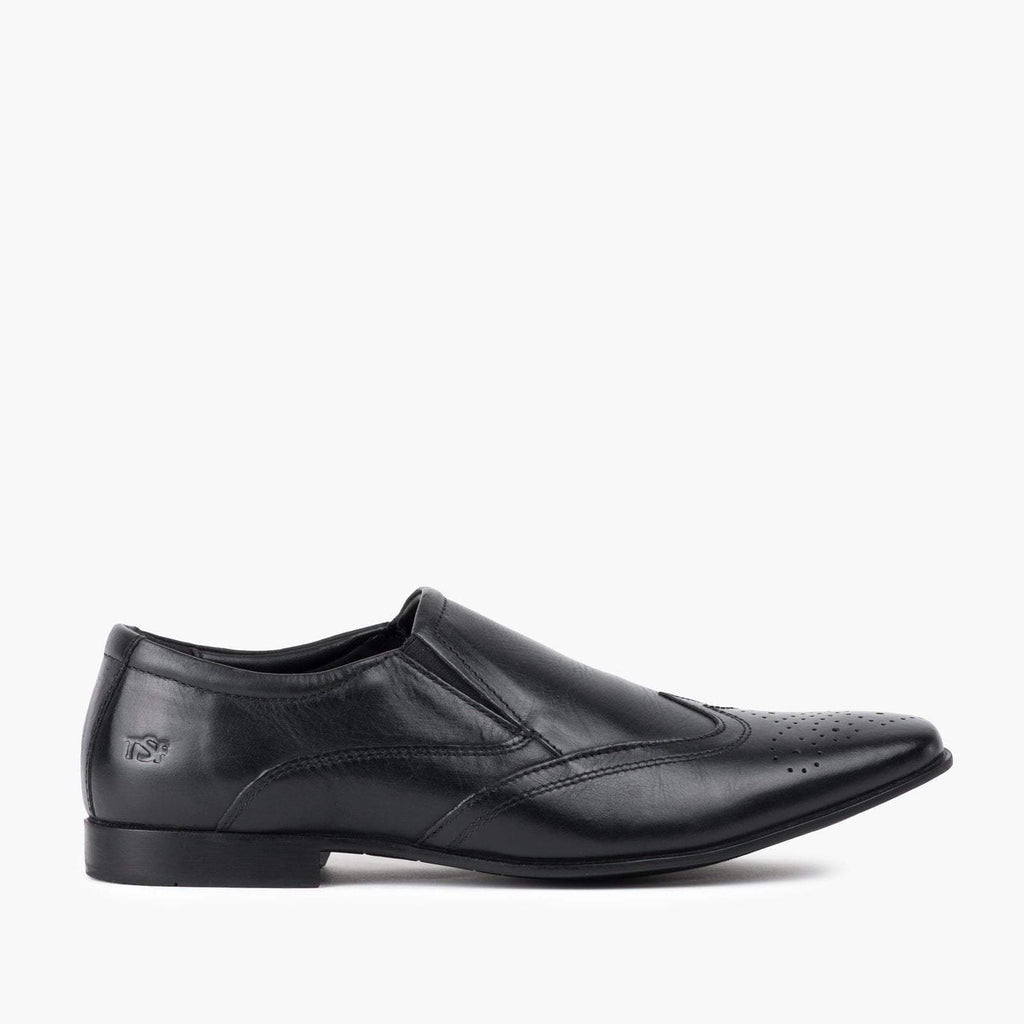 Redfoot Footwear MENS BLACK SLIP ON SHOE