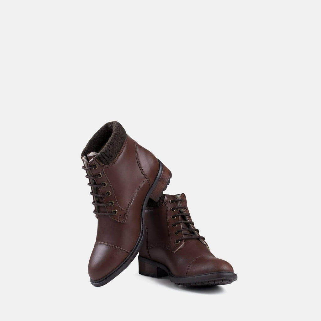 Redfoot Footwear MIKA BROWN LEATHER MILITARY BOOT