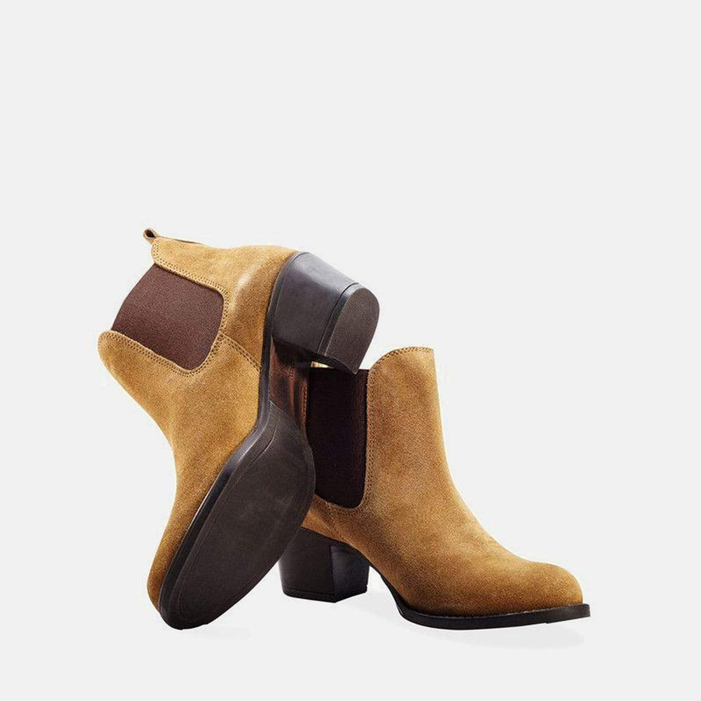 Redfoot Footwear MOLLY CHESTNUT SUEDE CHELSEA BOOT