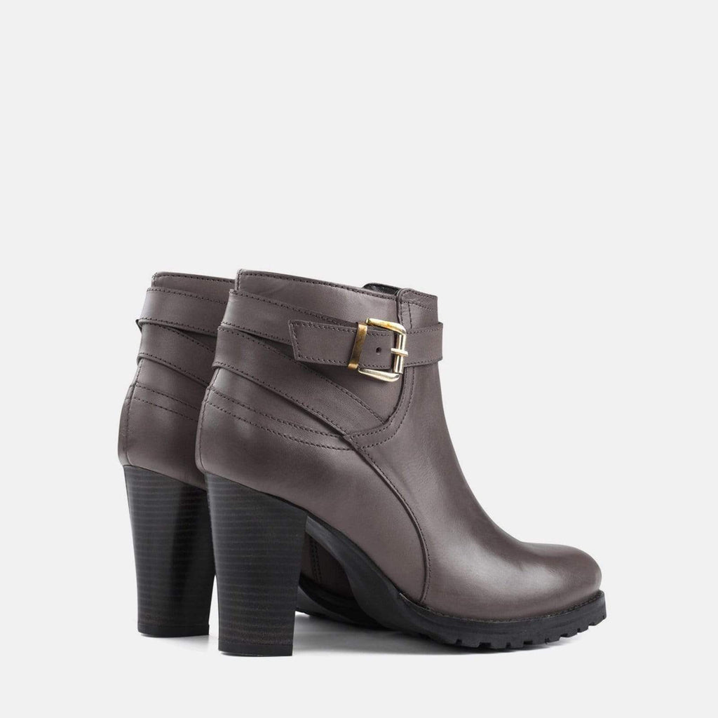 Redfoot Footwear OLIVIA BROWN LEATHER ANKLE BOOT
