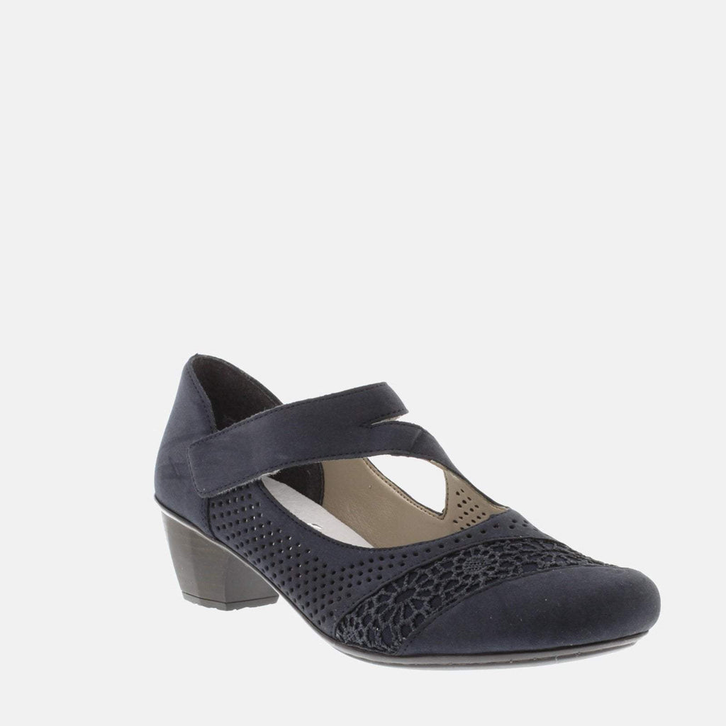 Rieker Footwear UK 4 / EU 37/ US 6.5 / Navy Blue 41743 14 Pazifik/Pazifik - Rieker Ladies Navy Blue Slingback Sandals
