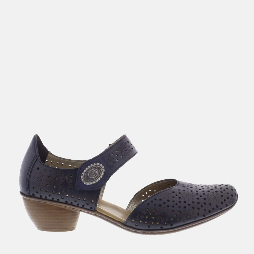 Rieker Footwear UK 3.5 / EU 36/ US 5.5 / Blue 43711 15 Mare/Royal - Rieker LadiesNavy Blue Mary Jane Style Shoes