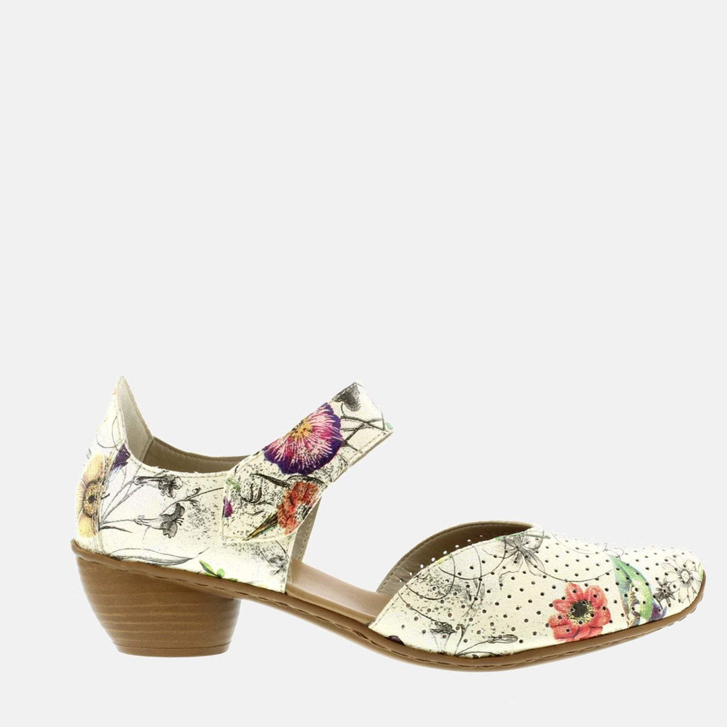 Rieker Footwear UK 4 / EU 37/ US 6.5 / Multi-Coloured 43789 90 Ice/Multi - Rieker  Ladies  Multicoloured Mary Jane Style Shoes