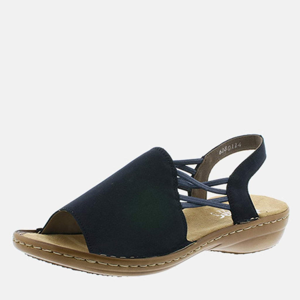 Rieker Footwear UK 4 / EU 37/ US 6.5 / Blue 608D1 14 Pazifik - Rieker Ladies Sling Back Summer Sandal