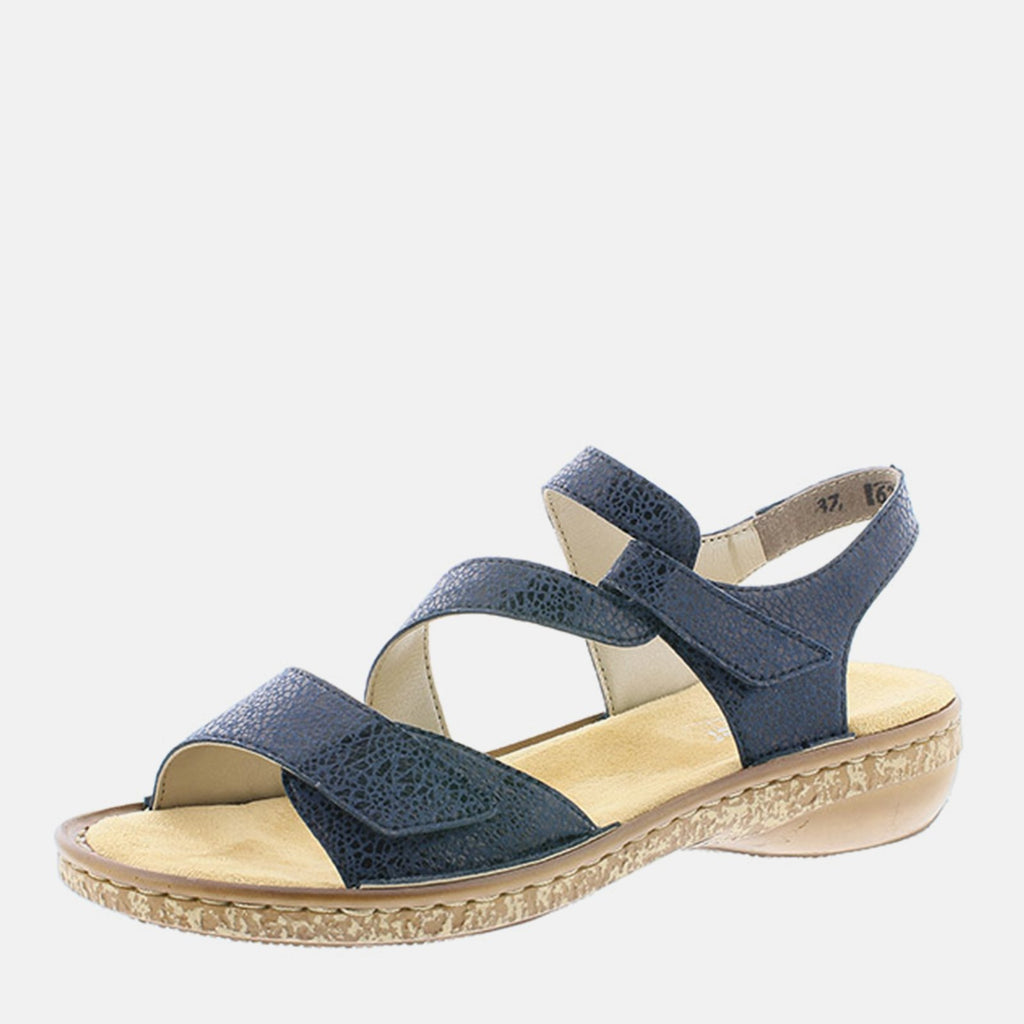 Rieker Footwear UK 4 / EU 37/ US 6.5 / Navy 628J1 14 Navy - Rieker Ladies Navy Blue Sling Back Summer Sandal