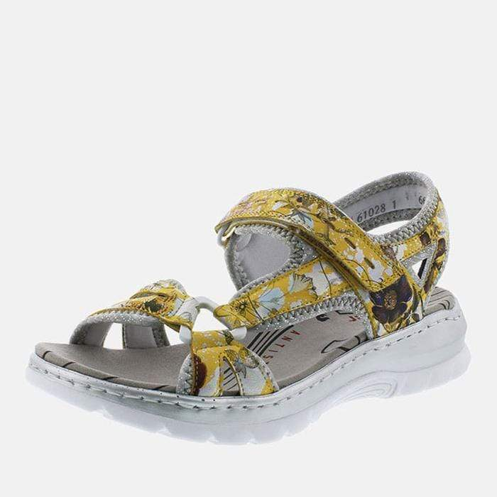 Rieker Footwear 66979-91 Yellow-Multi/Silverflower
