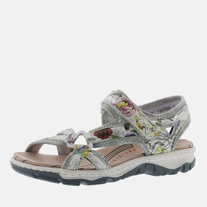 Rieker Footwear 68879-90 Ice-Multi/Silverflower