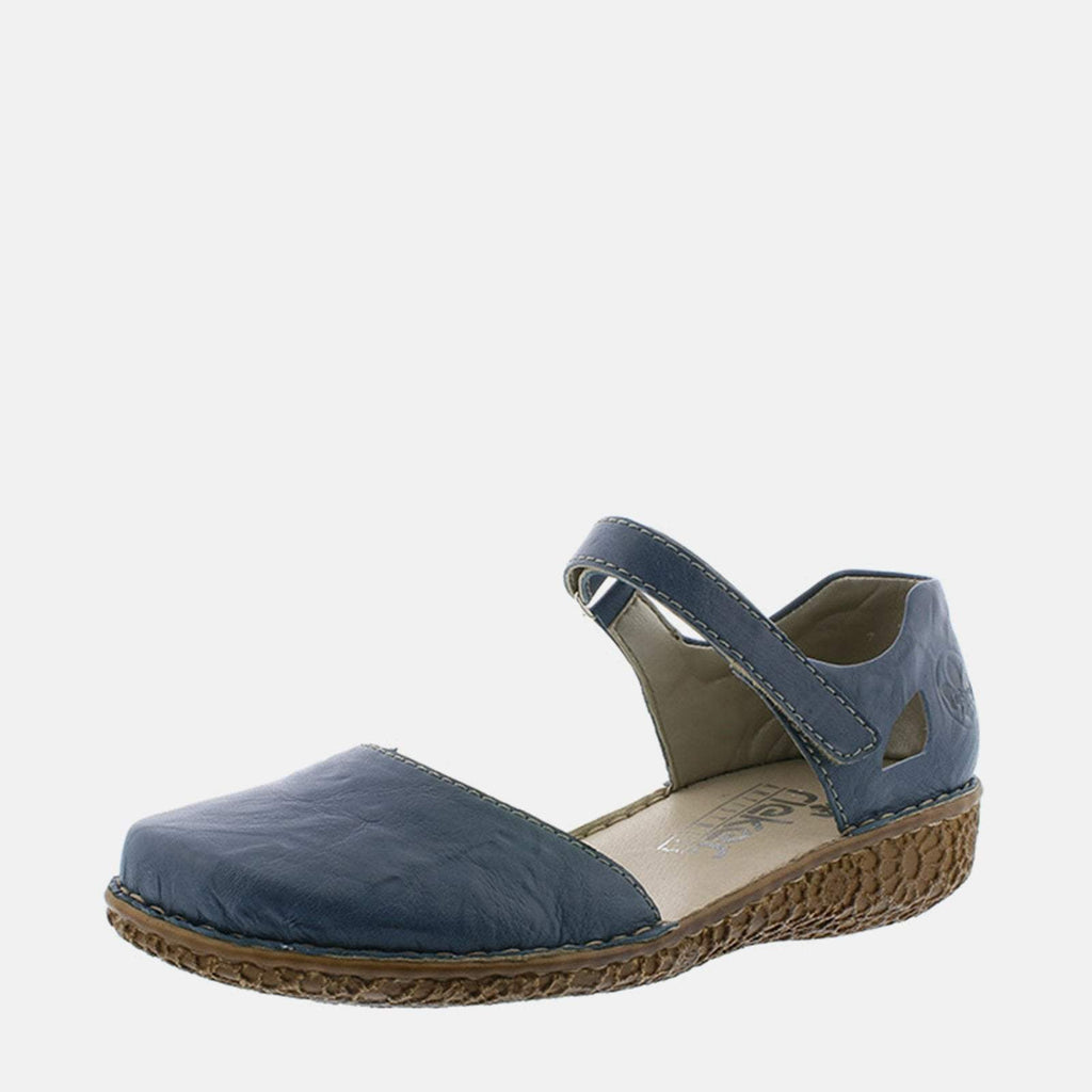 Rieker Footwear UK 4 / EU 37 / US 6.5-7 / Blue M0969 13 Azur - Rieker Ladies Blue Flat Summer Sandal