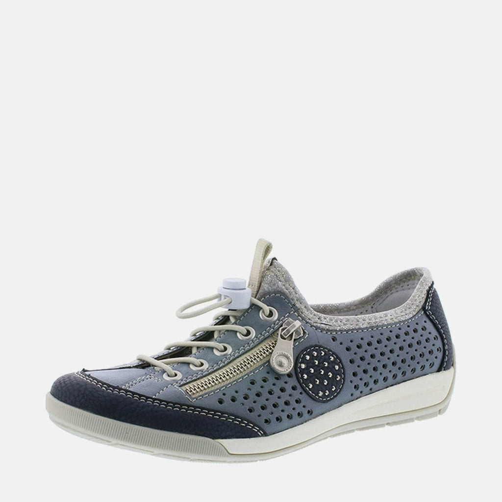 Rieker Footwear UK 4 / EU 37 / US 6.5-7 / Blue M3065 14 Pazifik/Adria - Rieker Ladies Blue Sports Trainers