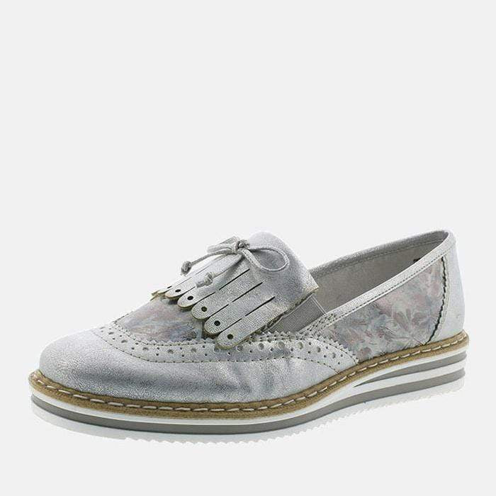 Rieker Footwear N0273-80 Ice/Grau-Metallic