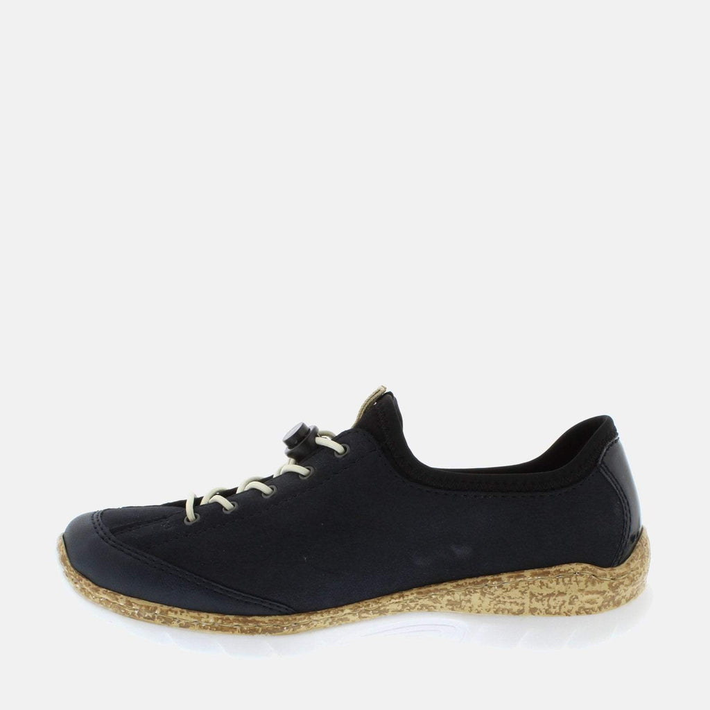 Rieker Footwear UK 4 / EU 37 / US 6.5-7 / Blue N4263 14 Pazifik/Pazifik - Rieker Ladies Navy Blue Lace Up Trainers