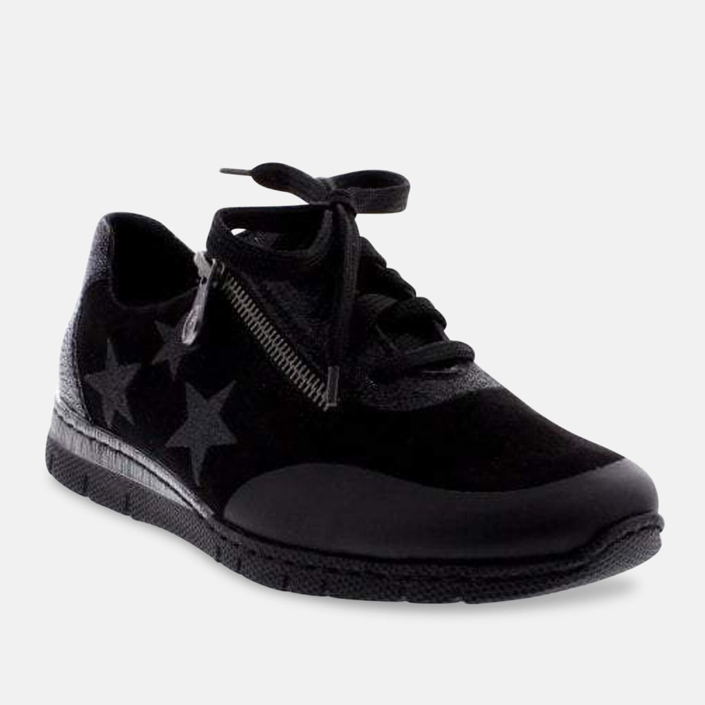 Rieker Footwear UK 3.5 / EU 36 / US 5.5 / Black Rieker N5322-02 Black Combination Zip,Lace Shoes