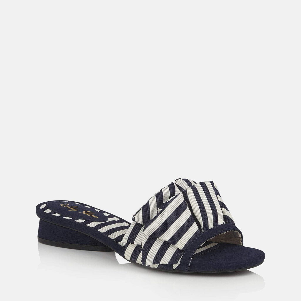 Ruby Shoo Footwear UK 2 / EU 35 / US 4 / Navy Alena Navy Stripe