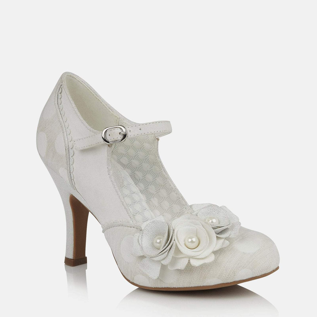 Ruby Shoo Footwear UK 2 / EU 35 / US 4 / White Antonia White/Silver