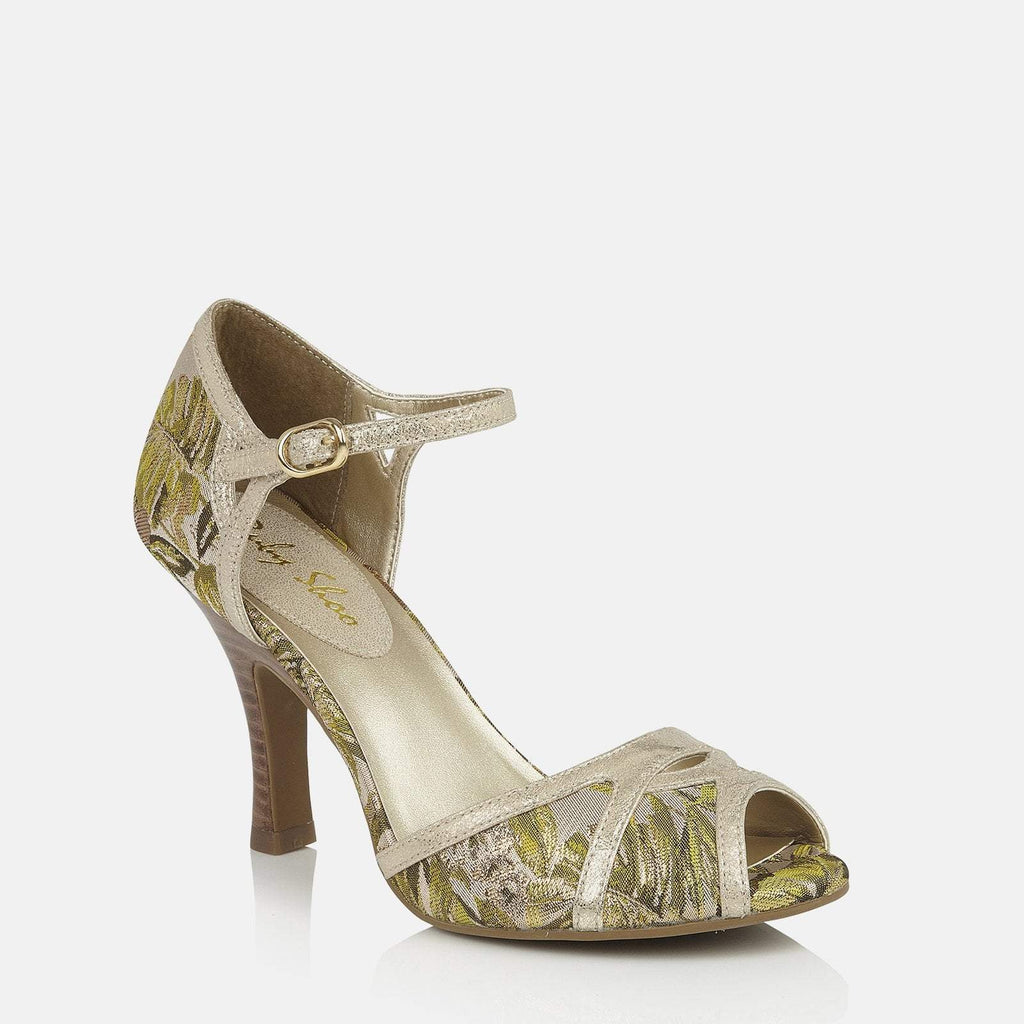 Ruby Shoo Footwear UK 2 / EU 35 / US 4 / Green Eliza Green/Gold
