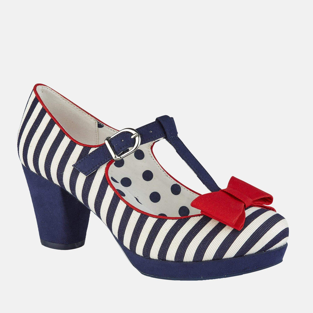 Ruby Shoo Footwear Jazz Navy Stripe