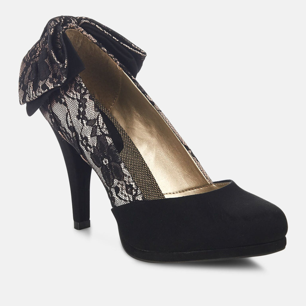 Ruby Shoo Footwear UK 2 / EU 35 / US 4 / Black Lace Katie Lace - Ladies High Heel Shoe
