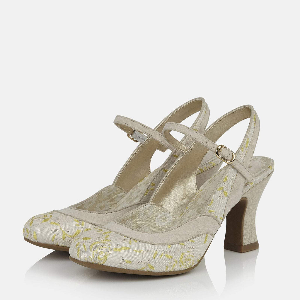 Ruby Shoo Footwear UK 2 / EU 35 / US 4 / Yellow Lucia Cream/Lemon