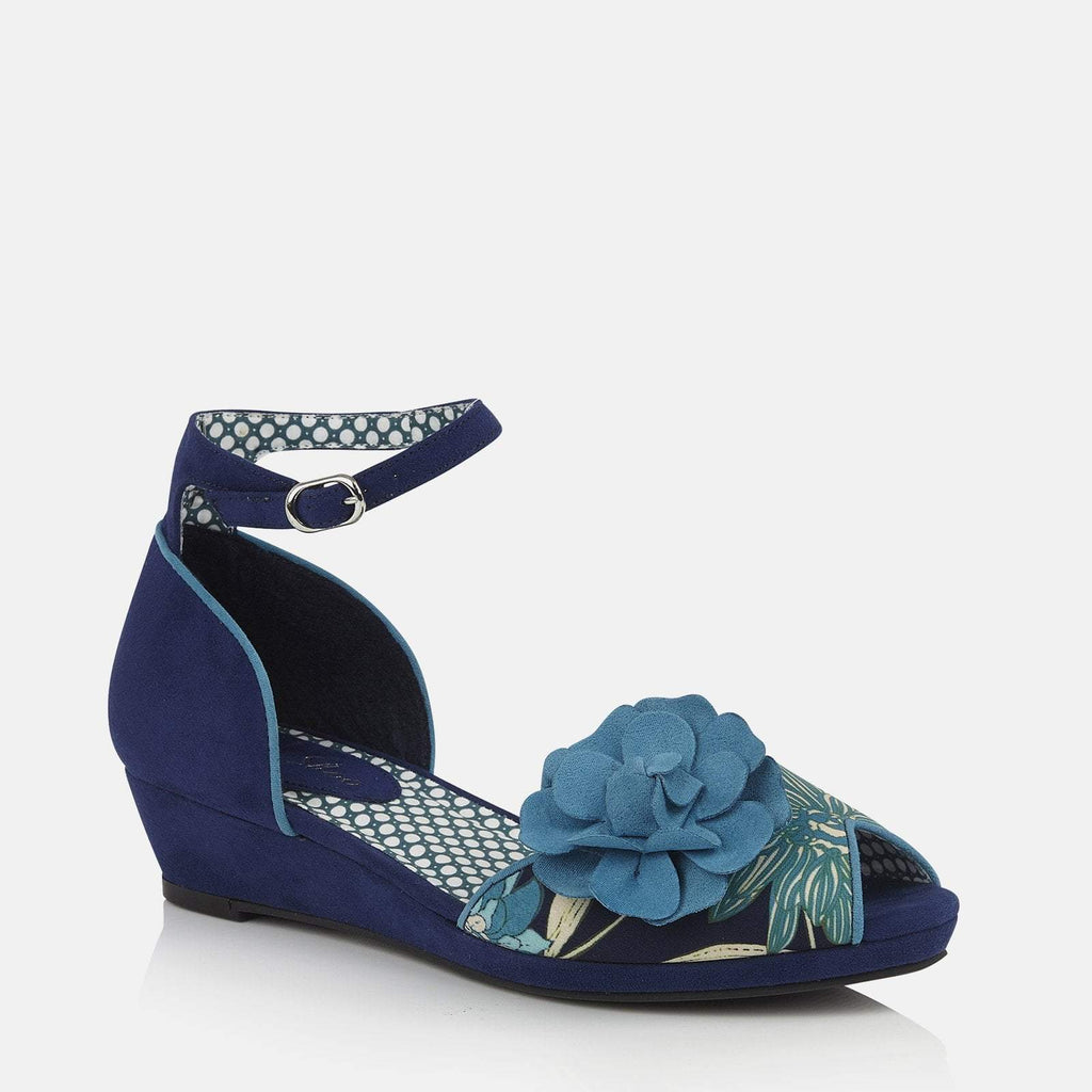 Ruby Shoo Footwear UK 2 / EU 35 / US 4 / Navy Phyllis Blue