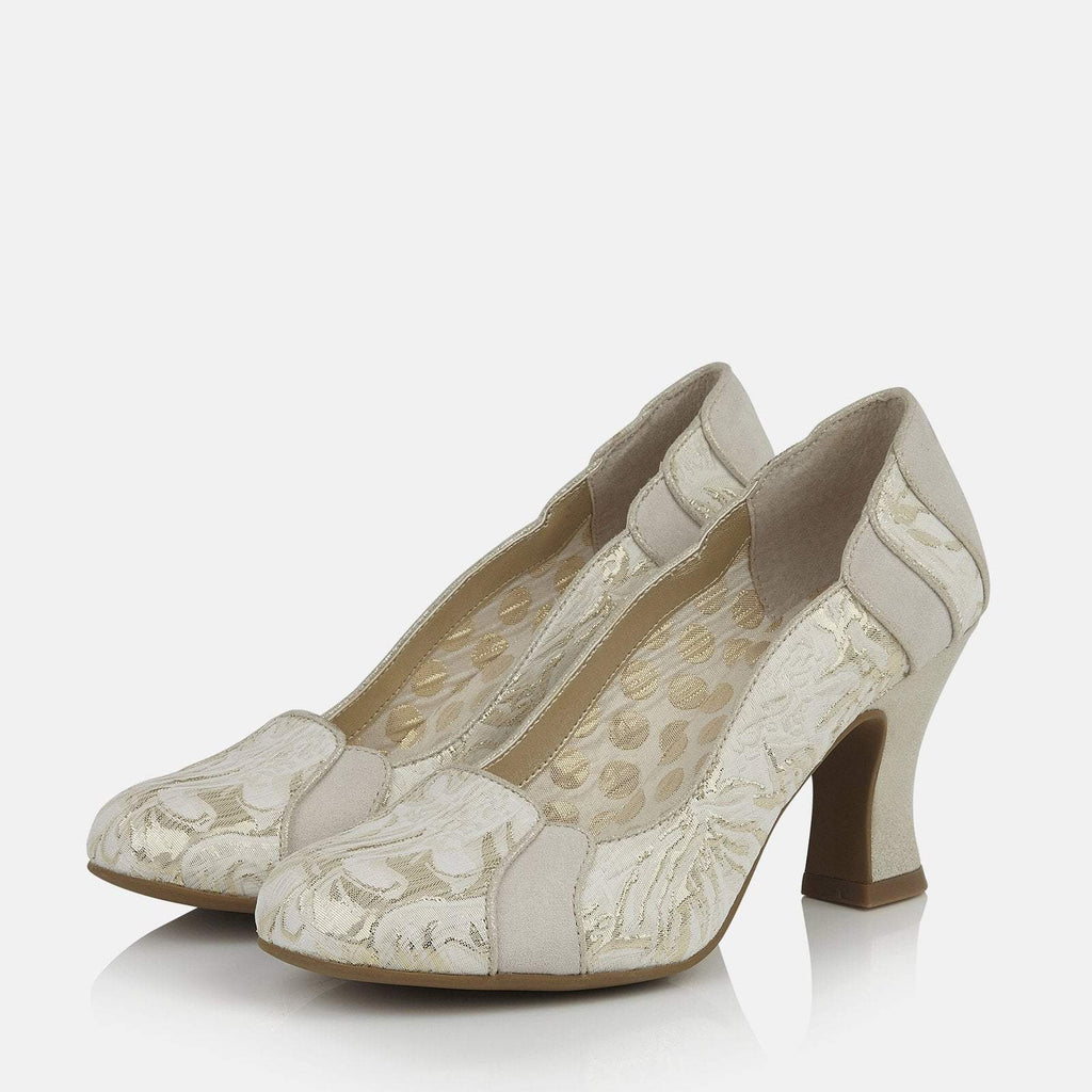 Ruby Shoo Footwear UK 2 / EU 35 / US 4 / Cream Priscilla Cream/Gold