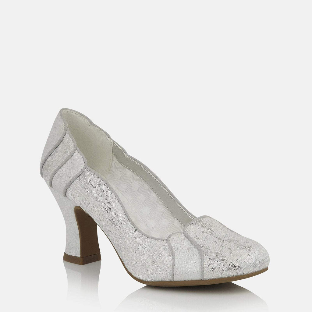 Ruby Shoo Footwear UK 2 / EU 35 / US 4 / White Priscilla White/Silver