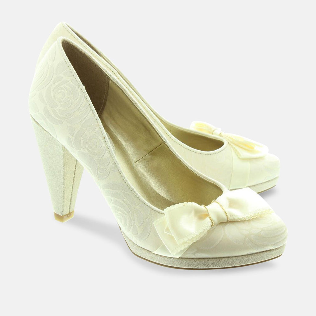 Ruby Shoo Footwear UK 2 / EU 35 / US 4 / Cream Susanna Cream Womens High Heel Shoe