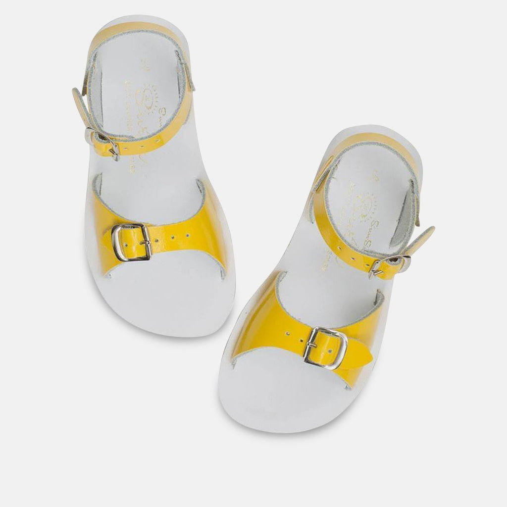 Salt-Water Footwear CHILDS UK 4 / Yellow 212344 Childrens Surfer - Shiny Yellow