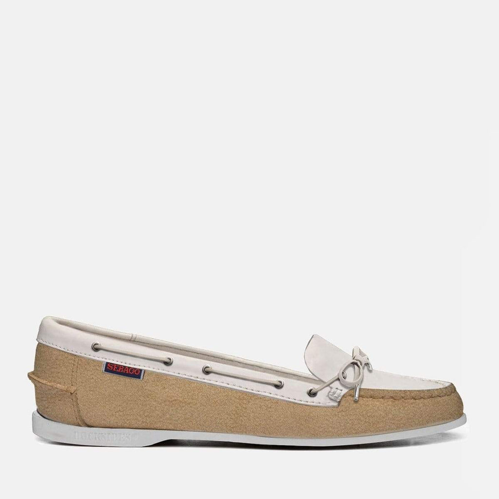 Sebago Footwear Nina Suede Leather Beige White