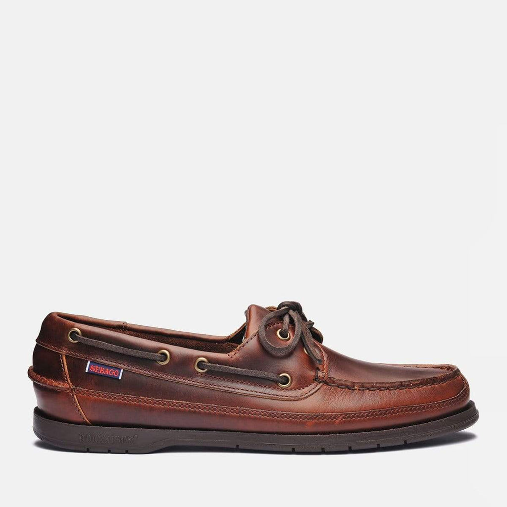 Sebago Footwear Schooner Full Grain Leather Waxed Brown Gum