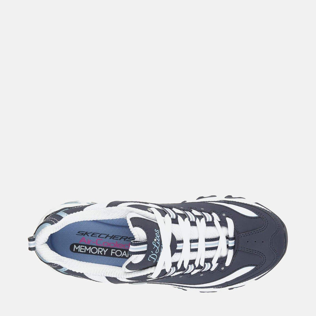 Skechers Footwear D'Lites Biggest Fan 11930 Navy White