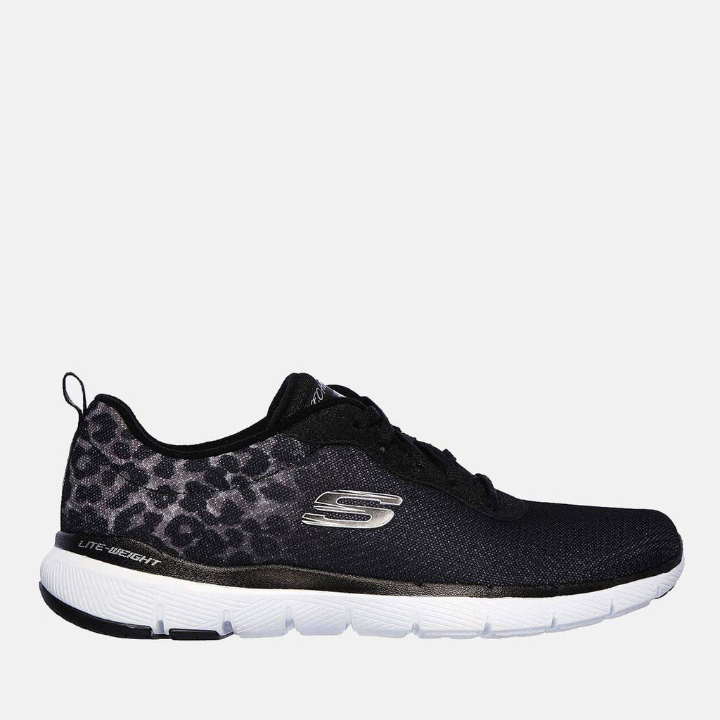 Skechers Footwear Flex Appeal 3.0 Leopard Path 13476 Black White