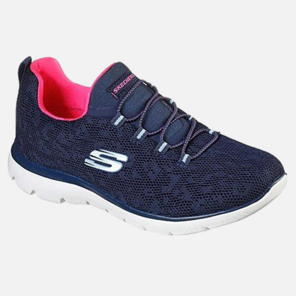Skechers Footwear Summits Leopard Spot 149037 Navy / Hot Pink