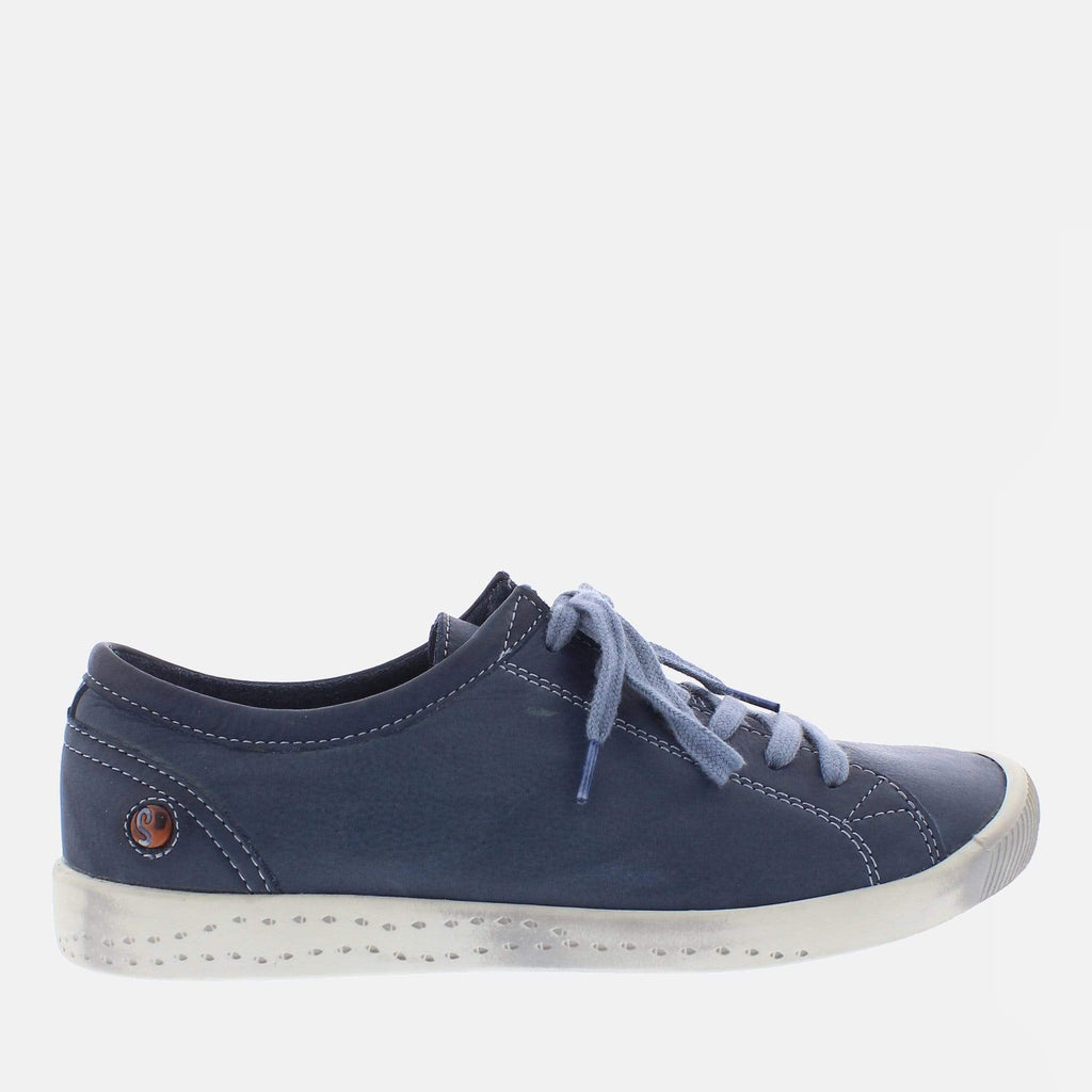 Softinos Footwear Isla Navy Washed Leather