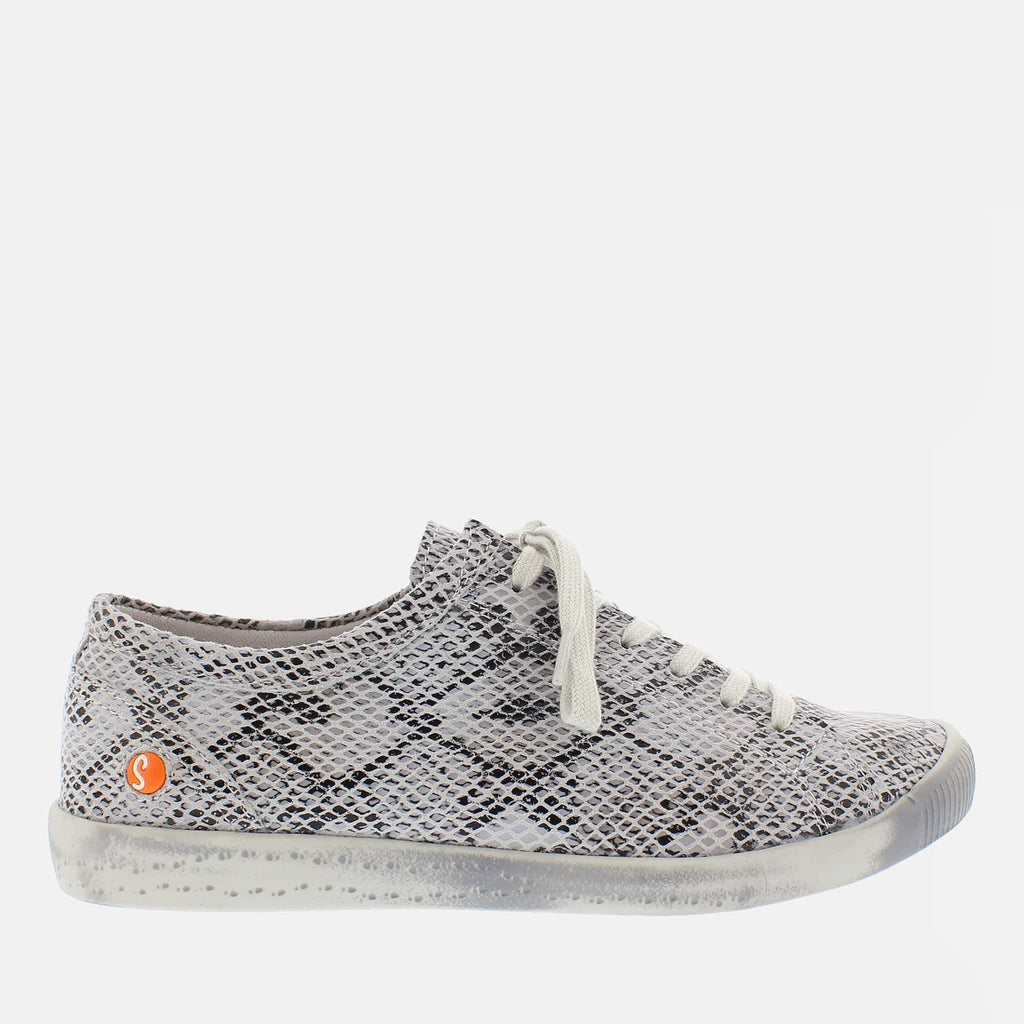 Softinos Footwear Isla Off White Snake Leather
