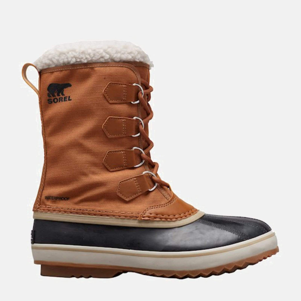 Sorel Footwear 1964 Pac'Ѣ Nylon Camel Brown, Black