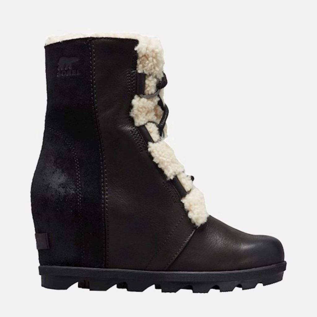 Sorel Footwear Joan Of Arctic'Ѣ Wedge II Shearling NM Black