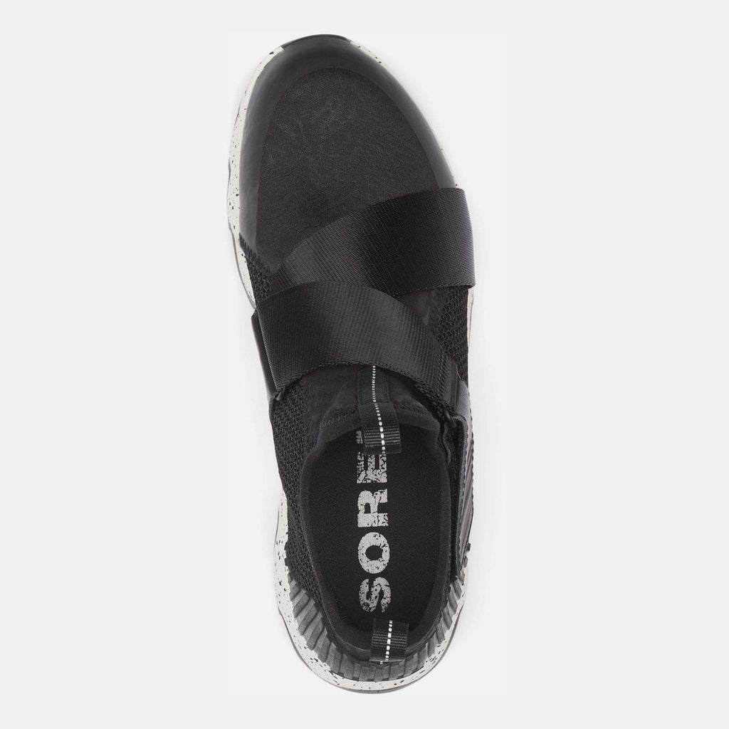 Sorel Footwear Kinetic Sneak Nordy Black, Sea Salt