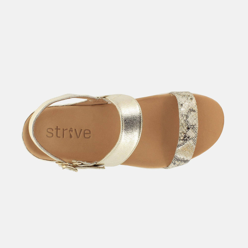 Strive Footwear Lucia 20300GP Light Gold / Metallic Snake