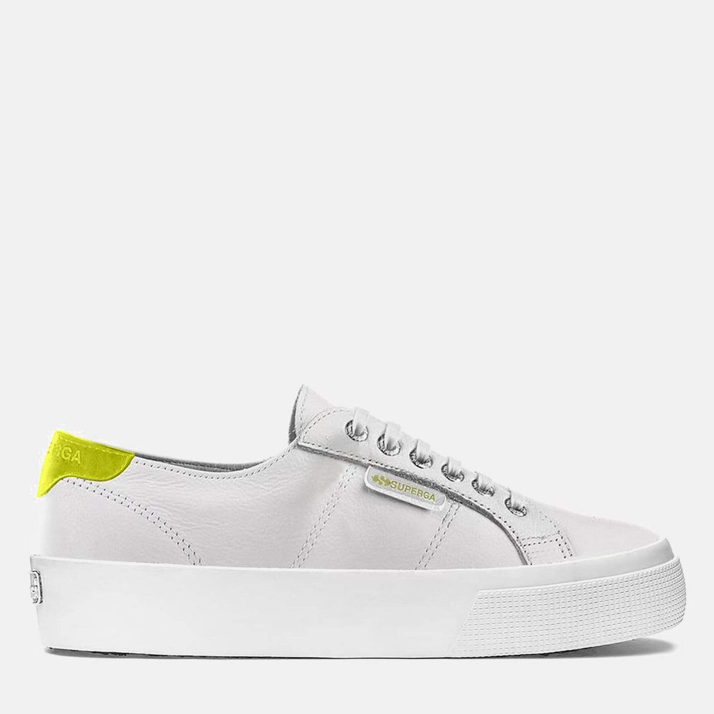 Superga Footwear 2730 Nappa Suede U White Yellow Fluo