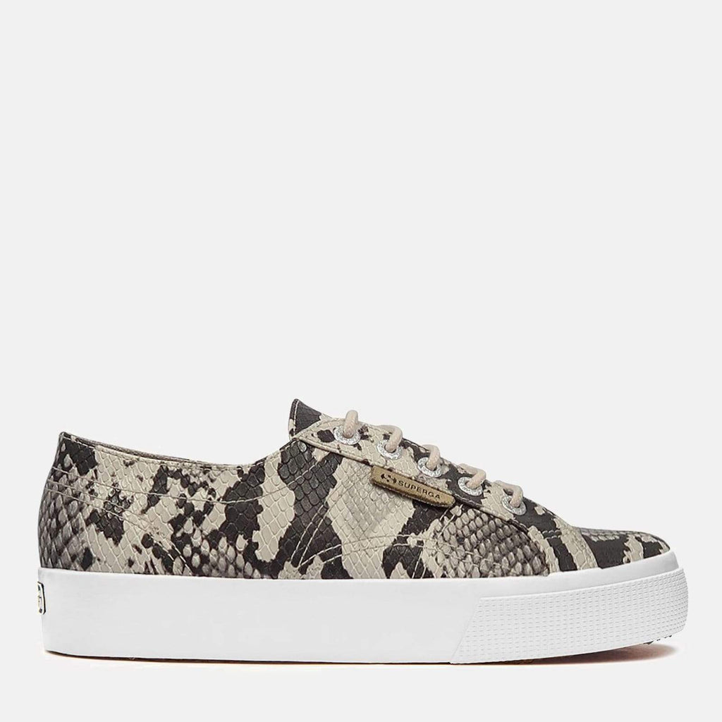 Superga Footwear 2730 Synthetic Snake Taupe Black