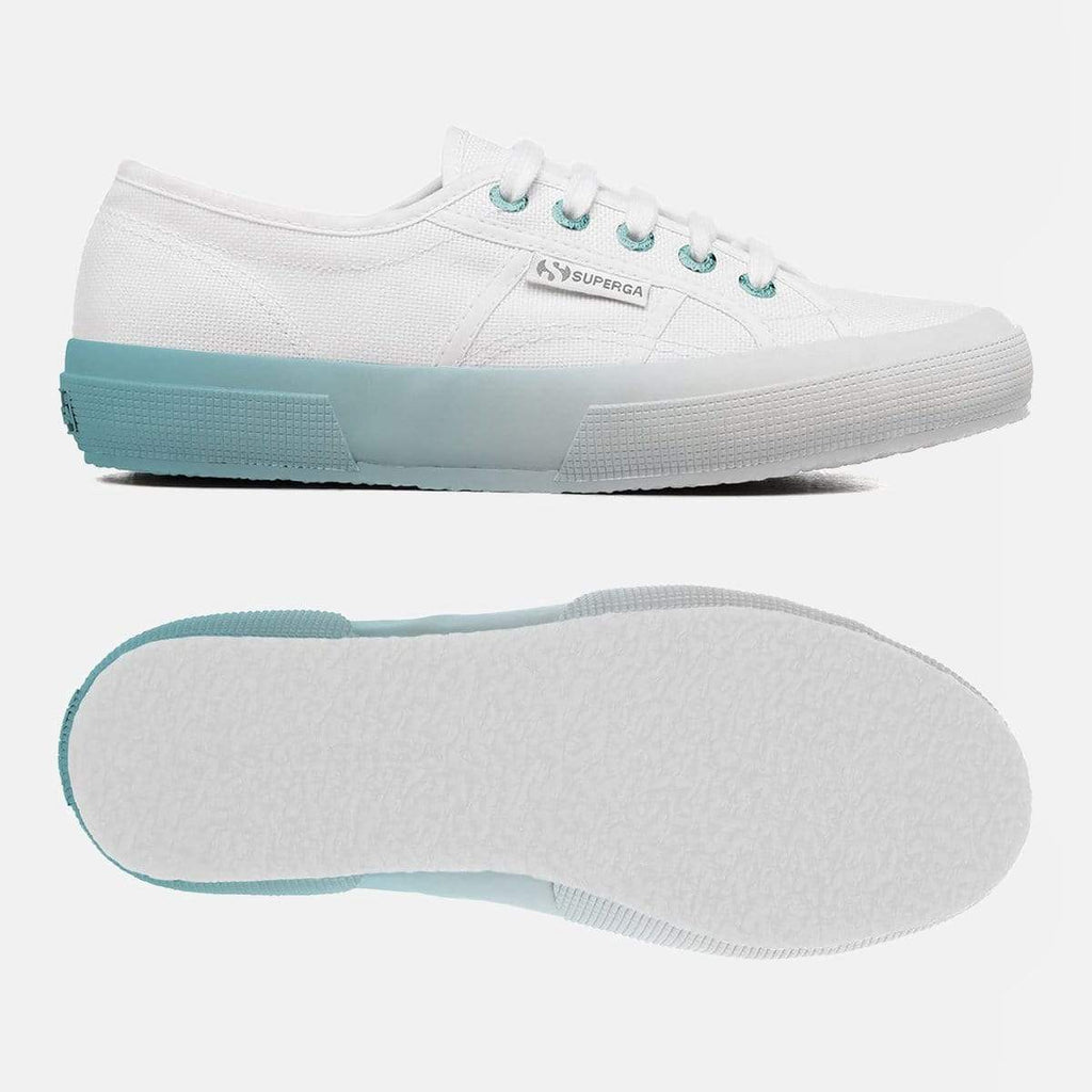 Superga Footwear 2750 Cot W Gradient White Blue LT Crystal