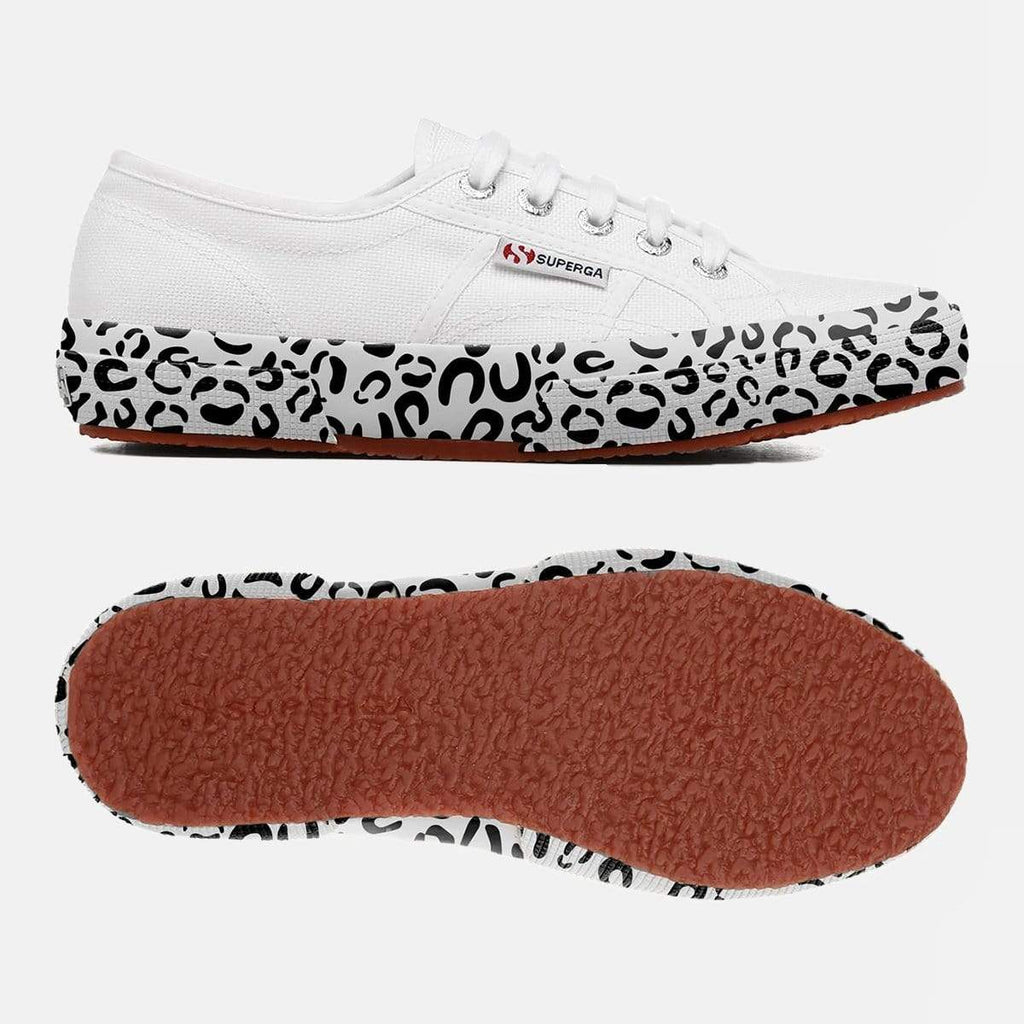 Superga Footwear 2750 Cot W Printed Foxing White Leopard